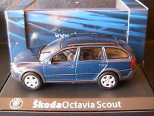 SKODA OCTAVIA COMBI SCOUT 2 STORM BLUE METAL 2007 ABREX 143AB011KC 1/43 BREAK