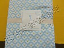 Pottery Barn Kids Ana Bed Sheets Set Floral Diamond Print Twin Blue Organic