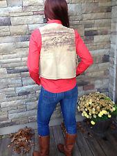 Ralph Lauren Sport Womens Equestrian Khaki Vest Size Small