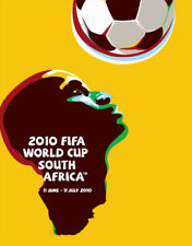 2010 World Cup POSTCARD of Poster