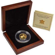2001 Canada Gold Hologram Maple Leaf (1/4 oz) $10 - Original Mint Packaging