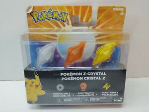 Tomy Pokemon Z Crystal Normalium Fightinium Electrium - 3DS Sun Moon Compatible