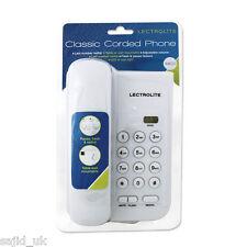 Lectrolite CLASSIC COMPACT chiacchiere Telefono a filo LED scrivania portatile-bianco