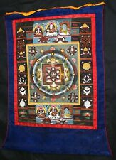 19thC Chinese Scroll Tibetan Tibet Tanka Monastery Buddhist Religious Painting
