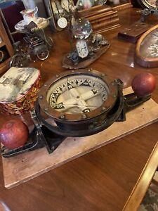 Antique E.S. Ritchie Boston Post Civil War Era Ships Compass