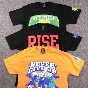 Lot Of 3 John Cena Wrestling T Shirts Size Mens Large WWE Graphic Tee Bundle