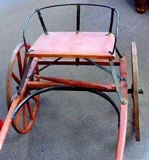 "Antique Victorian Child's Wooden Goat Cart w/Metal-Back Seat.Orig Hardware. 52""L"