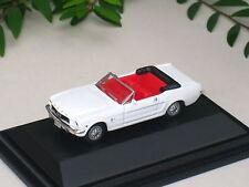 High Speed 1/87 Diecast Car 1964 1/2 Ford Mustang Cabrio WHITE Classic Car (5cm)