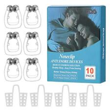 10 Pack Snoring Solution, Anti Snore Clip, Nose Clip Snore Stopper Silicone Nos