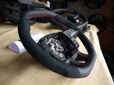 Land Rover Evoque Custom Alcantara steering wheel paddle flat bottom + top thick