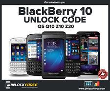 Unlock Code Bell Virgin Blackberry BB10 Z10 Z30 Q5 Q10 and More