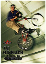 Taj Mihelich BMX #25 Fleer Adrenaline 2000 Silver Text Card (C309)