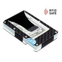 Kreditkarten Halter Geldklammer Carbon Kohlefaser | RFID sicher