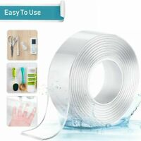 Nano Magic Tape Traceless Double-Sided Tape Washable Invisible Gel-1M/3M/5M-2MM