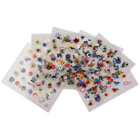 10Sheets 3D Nail Art Flowers Stickers Heart Star Tattoos Sticker Design TS