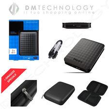 """HARD DISK ESTERNO 2,5"""" 1TB MAXTOR USB 2.0/3.0 AUTOALIMENTATO SLIM CON CUSTODIA"""