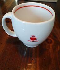 Starbucks abbey mug cup 2004 white & red 14oz