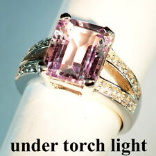 CHANGE BLUE PURPLE SPINEL RING 6.20 CT.SAPPHIRE 925 STERLING SILVER SZ 6.5 GIFT