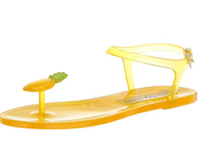 Katy Perry The Geli Flat Sandal Pineapple Yellow Women's Size 8 Medium US New