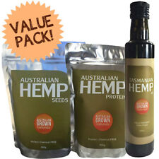 Hemp for Health Pack - Seeds 500g, Oil 250ml & Protein Powder 500g