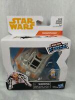 Star Wars Micro Force Vehicle - Luke with Snowspeeder NIB Disney Hasbro