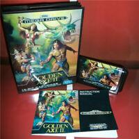 Golden Axe 2 EU Cover with Box and Manual Sega Megadrive Genesis MD