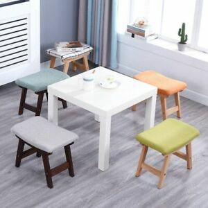 Small Colorful Stool for Sitting or Footrest Colorful Fabric Stools for Decor