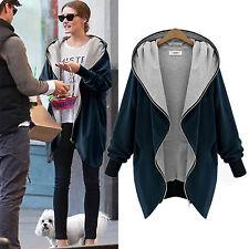 Winter Women Hooded Hoodie Jacket Sweater Coat Long Sleeve Outwear Top Plus Size