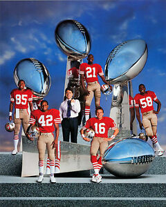 SAN FRANCISCO 49ers 4 SUPER BOWL 8X10 TEAM PHOTO FOOTBALL NFL PICTURE NINERS