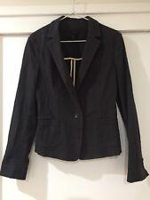 Cue Ladies Black Blazer Suit Business Jacket Long Sleeve Size 10 Good Condition