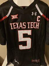 New W/O Tags Texas Tech Patrick Mahomes Jersey Black Free Shipping