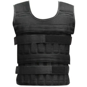 35KG/77LB Adjustable Weighted Vest Home Gym Training Jacket Running Weight Loss