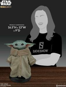 2020 Star Wars Sideshow MANDALORIAN THE CHILD Life Size Figure Baby Yoda NIB