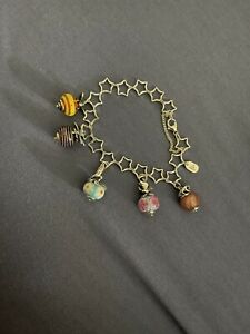 STERLING SILVER JAMES AVERY CHARM BRACELET WITH 5 CHARMS