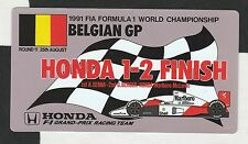 McLAREN HONDA F1 AYRTON SENNA 1-2 FINISH BELGIAN GP 1991 ORIGINAL PERIOD STICKER