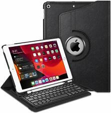"""Wireless Keyboard Case For iPad 7th Gen 10.2"""" 2019 360 Degree Rotating Cover"""