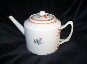 Chinese Export Porcelain Teapot Twist Handle 1790-1810 Antique
