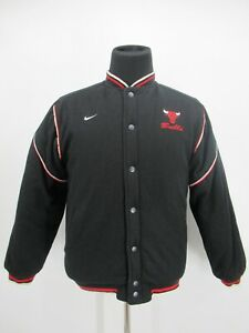 P4986 VTG NIKE Chicago Bulls Boy's Basketball-NBA Reversible Jacket Size XL 20