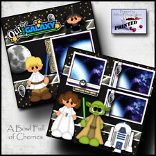 STAR WARS DISNEY 2 premade scrapbook pages paper printed layout boy girl CHERRY