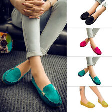 Ladies Ballerina Slip On Loafers Low Flats Anti Skid Moccasin Work Shoes Size