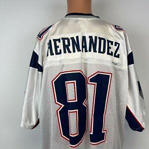 Reebok Aaron Hernandez New England Patriots Replica Road Jersey NFL Football XL