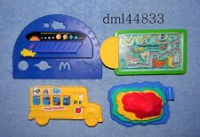 1994 McDonalds Magic School Bus Complete Set - Lot of 4, Boys & Girls, 3+