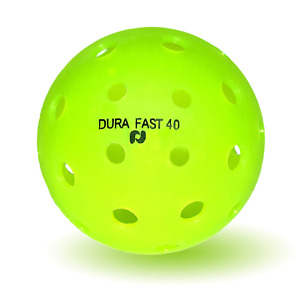 (Dura Fast 40) Outdoor Pickleball Balls -12 pack - Lime Green - 1 DOZEN - Neon
