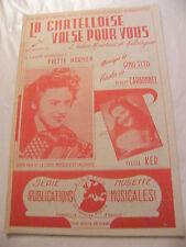 Partition La chatelloise Valse pour vous Yvette Horner Yvette Ker