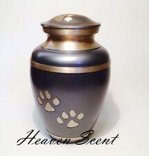 Grey & Gold Pet Dog/Cat Cremation Ashes Urn Container Jar Pawprint Design 01507P