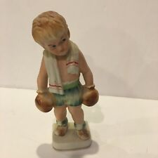ANTIQUE 1950'S UCAGCO JAPAN CERAMICS MID CENTURY BOXING  SPORTS FIGURINE