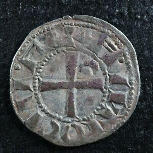 """Helmet"" Denier Bohémond III 1163-1201 Crusader States Principality of Antioch"