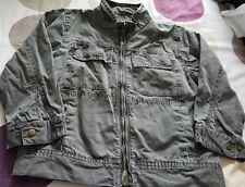 BOYS  COTTON JACKET SIZE 4-5 YEARS MARKS AND SPENCER OLIVE GREEN