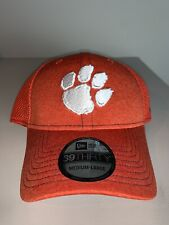 Men's New Era 39THIRTY Clemson Tigers Orange Fitted Cap Hat M/L NWT