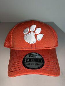 Men's New Era 39THIRTY Clemson Tigers Orange Fitted Cap Hat M/L NWT